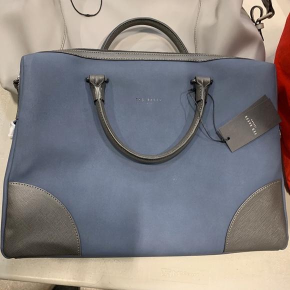 Ted Baker Nubuck leather Laptop Business Bag